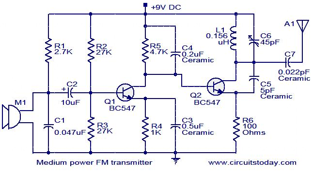 Astounding Medium Power Fm Transmitter Circuit Electronic Circuits And Wiring Cloud Gufailluminateatxorg