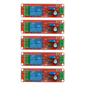5pcs Zeitrelais Timing Timer Delay Relay Einstellbare Modul Trigger Schalter