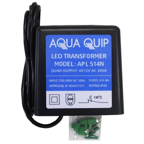 Phenomenal Aquaquip Plug In 12V X 30Va 4 Outputs Transformer For Led Pool Lights Wiring Cloud Odgahapolomohammedshrineorg