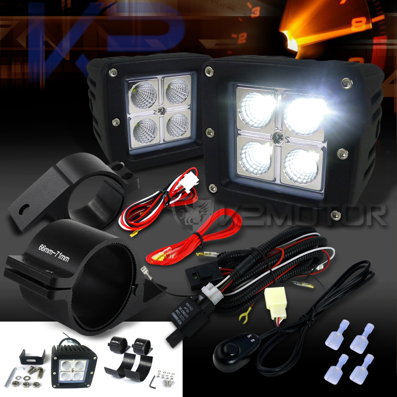 Marvelous Universal 4 Led Cube Off Road Fog Lights Wiring Harness 2 5 Wiring Cloud Filiciilluminateatxorg
