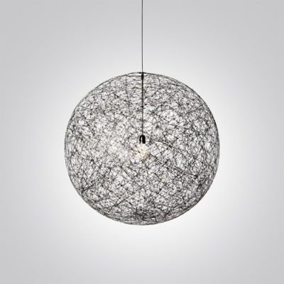 Cool Mini Black Linen Wire Globe Suspension Pendant Light Takeluckhome Com Wiring Cloud Eachirenstrafr09Org