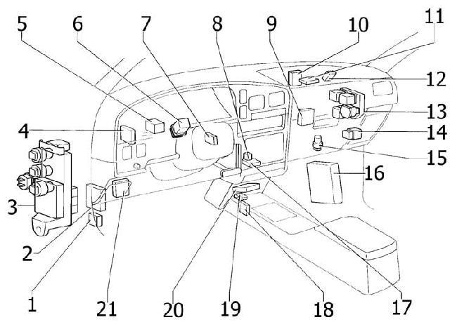 vn 4293  1992 toyota 4runner ignition switch schematic wiring