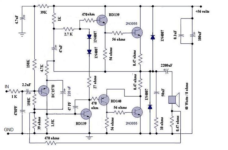 Stupendous Simple 10 Watt Power Amplifier Circuit Diagram Electronic Circuits Wiring Cloud Ittabisraaidewilluminateatxorg
