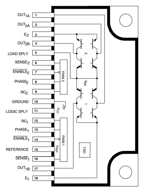 5Pcs NEW ST CHIP IC L297 Stepper Motor Ctrlr Dip-20