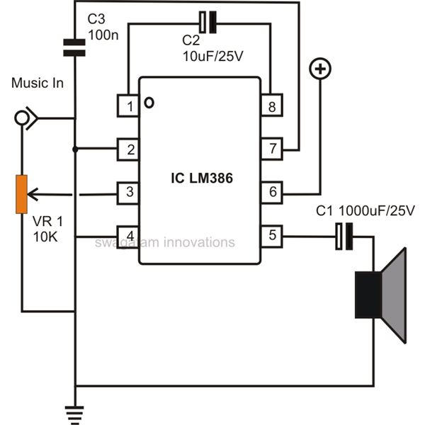 Awe Inspiring How To Build Small Simple Audio Amplifiers Using Ic Lm386 Wiring Cloud Picalendutblikvittorg