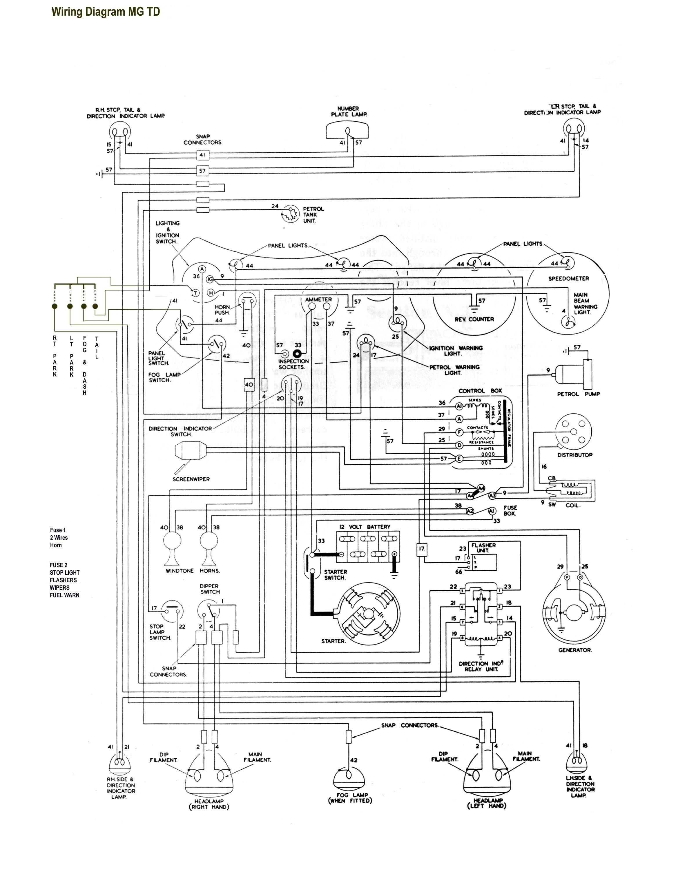 Wiring Diagram Mg Td