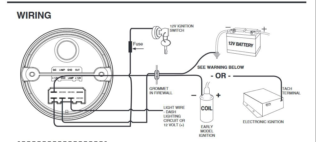 Autometer Tach Wiring Sport Comp - Sport Information In The Word   Sport Comp Tach Wiring Diagram To Msd Ing      Sport Information In The Word