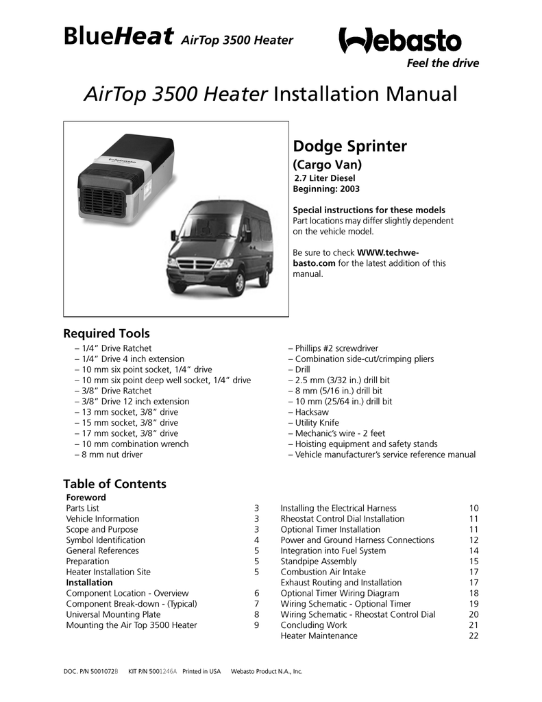 Swell Webastoto Air Top 3500 Installation Manual Manualzz Com Wiring Cloud Gufailluminateatxorg