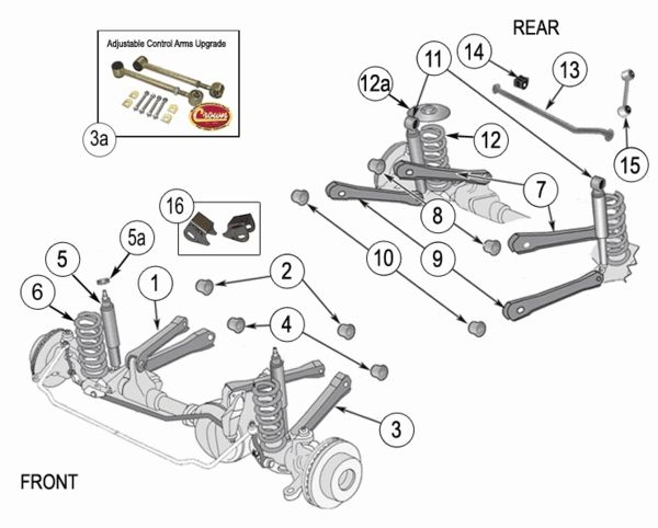 Fine Jeep Wrangler Tj Suspension Parts Exploded View Diagram Years 1997 Wiring Cloud Picalendutblikvittorg