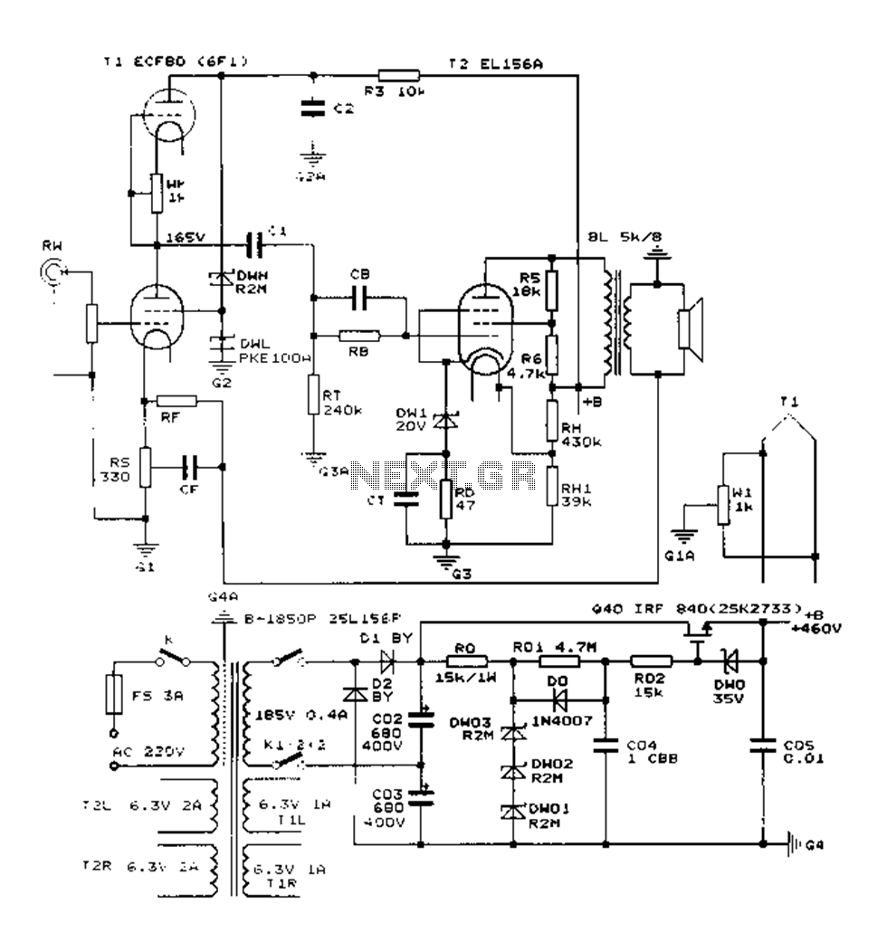 Terrific Construction 25W Single Ended Class A Tube Amp Circuit Diagram El156 Wiring Cloud Waroletkolfr09Org