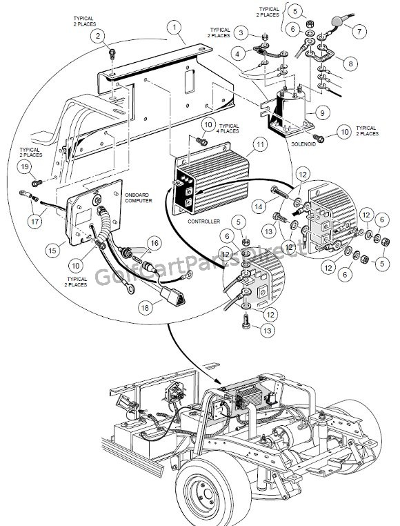 Bc 7936 Yamaha 48 Volt Golf Cart Forward Reverse Wiring Diagram For A Controller Schematic Wiring
