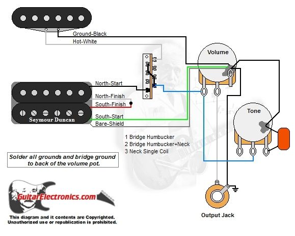 Hn 3204 Solo Switch Circuit For A 1 Volume 1 Tone Control Guitar
