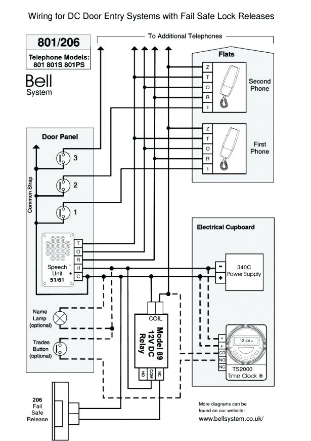 Bell System 801 Door Entry Telephone Wiring Diagram