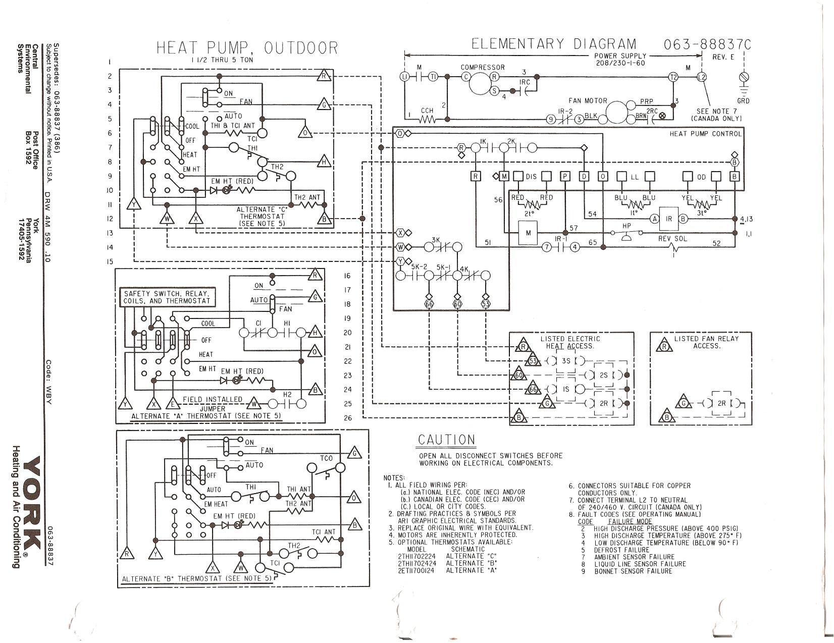 Ruud Heat Pump Wiring Schematic