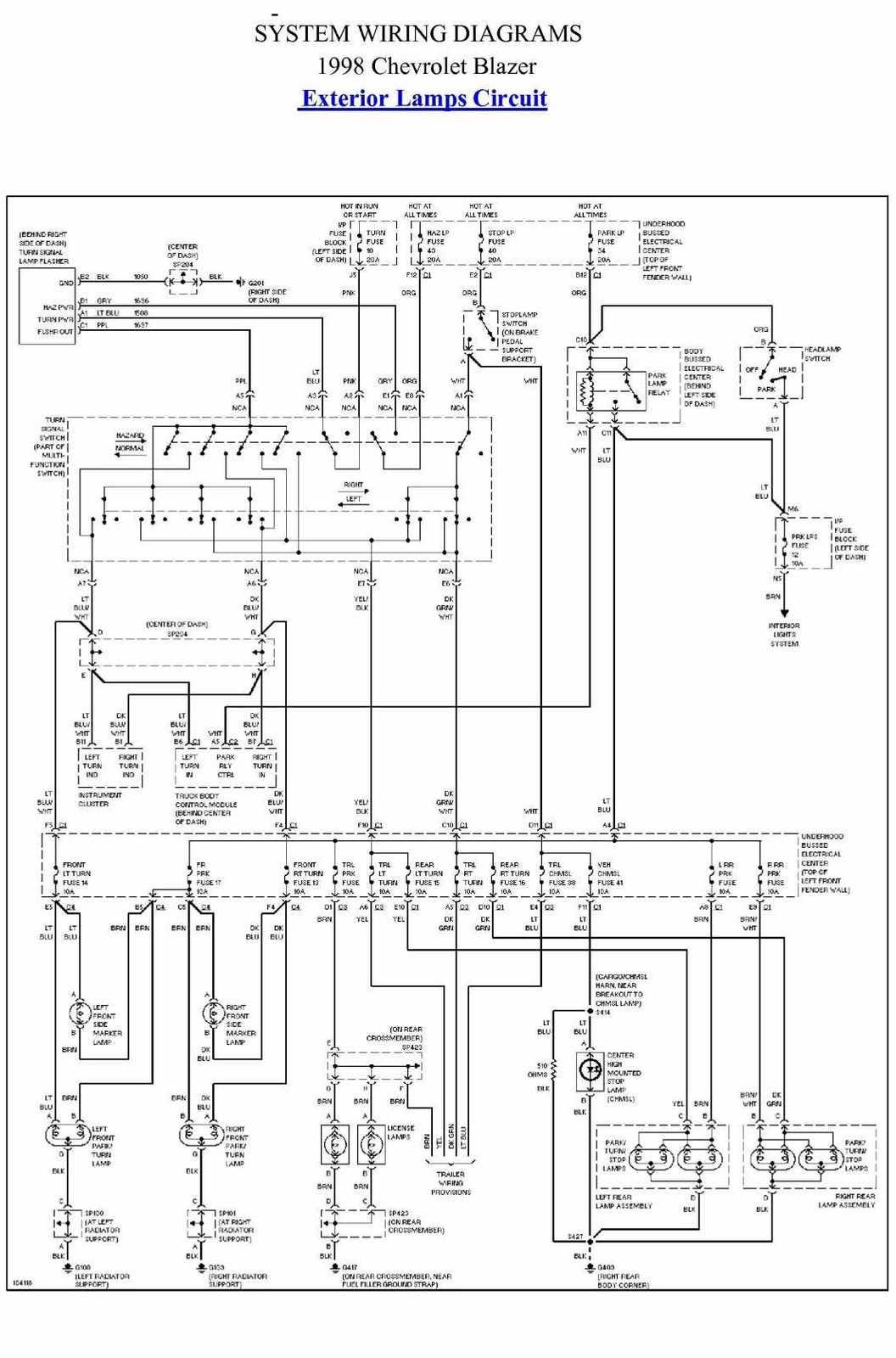 Marvelous 98 Chevy Wiring Diagram Wiring Library Wiring Cloud Xortanetembamohammedshrineorg