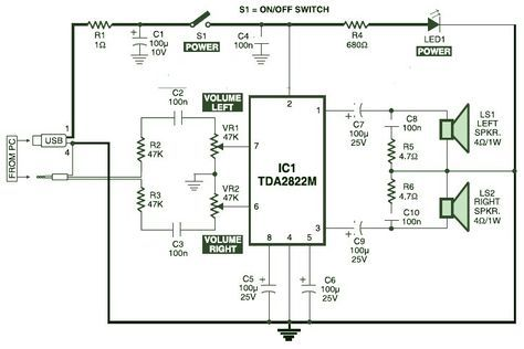 WE_0300] Usb Current Booster Usb Power Usb Powered Stereo Computer Speaker  Schematic WiringInki Gritea Mohammedshrine Librar Wiring 101