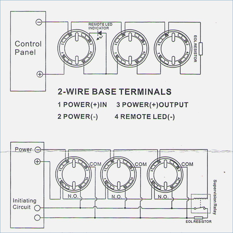 Yx 4304 2wire Smoke Detector Wiring Wiring Diagram