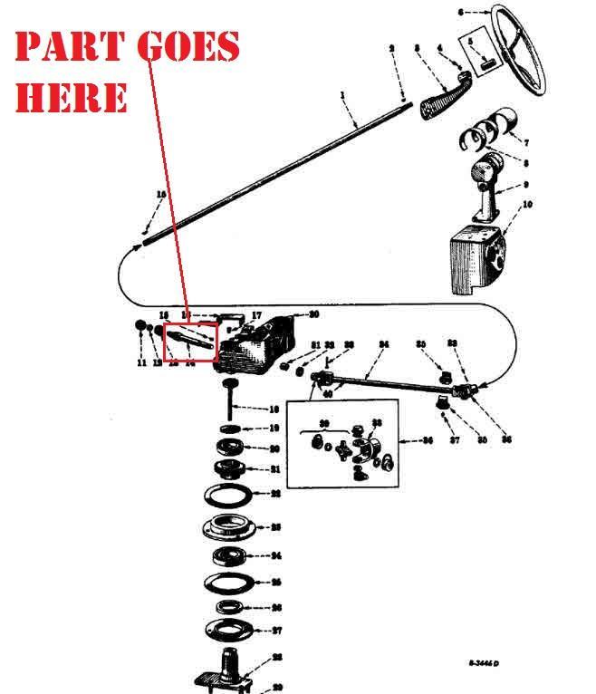 1948 farmall h wiring diagram th 5489  farmall h steering parts diagram schematic wiring  farmall h steering parts diagram