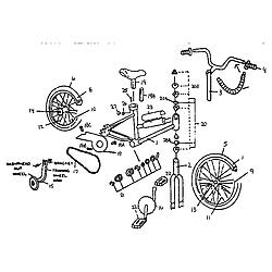 Cool Sears Model 642459380 Bicycles Genuine Parts Wiring Cloud Eachirenstrafr09Org