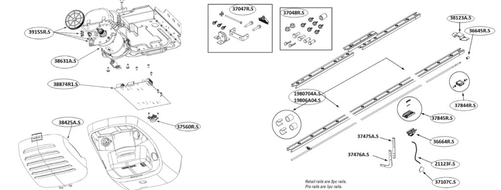 Genie 38874R2 Circuit Board Assembly Genie TriloG 1500 /& PowerMax 1500 1500