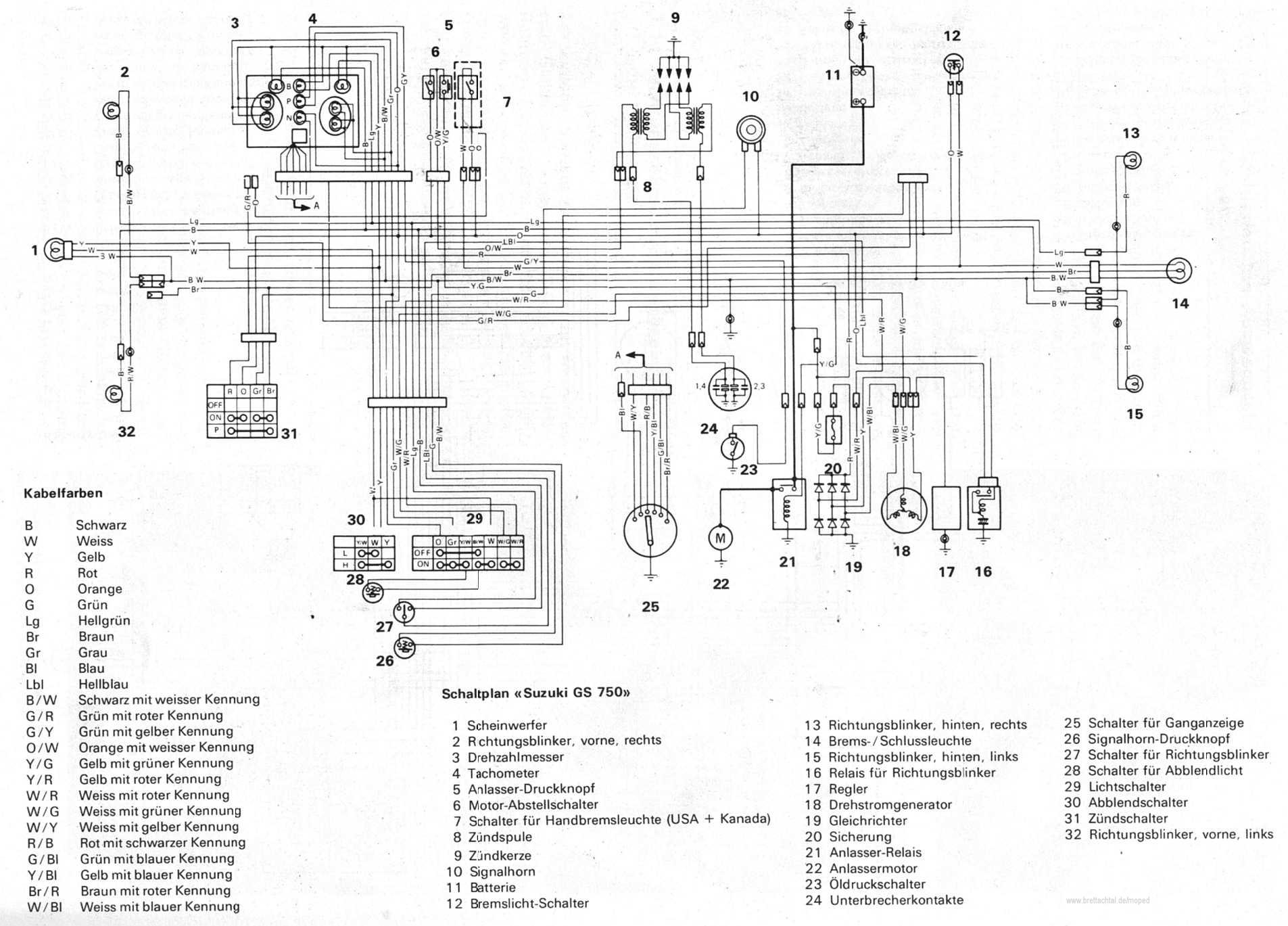 1980 suzuki gs 450 wiring diagram