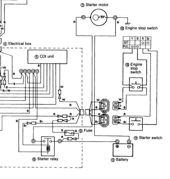 yamaha blaster electrical wiring  description wiring