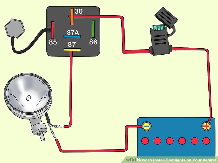 Terrific How To Install Spotlights On Your Vehicle 15 Steps Wiring Cloud Grayisramohammedshrineorg