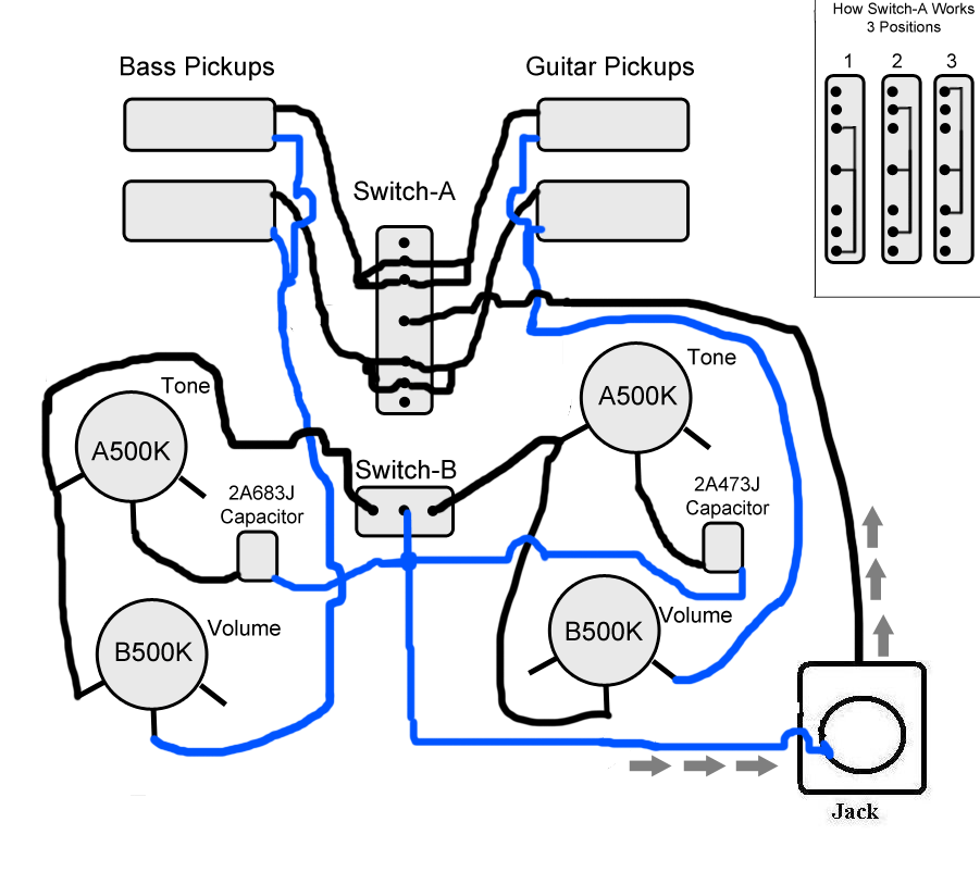 double neck wiring diagrams  wiring diagram of car