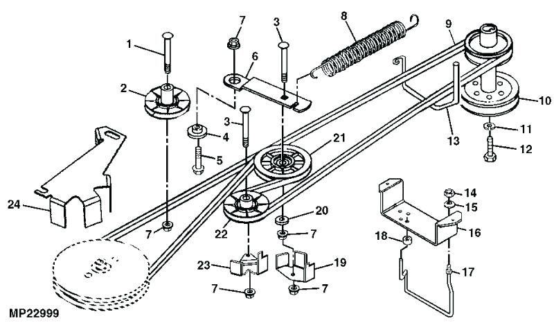 vw7618 belt deck diagram craftsman 42 mower free image