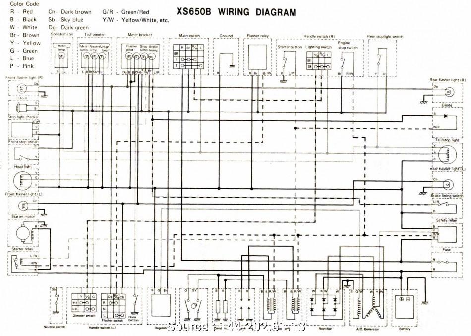 1983 Yamaha Xj650 Maxim Wiring Diagram
