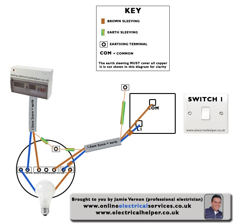 one way switch wiring diagram light  2002 caravan stereo