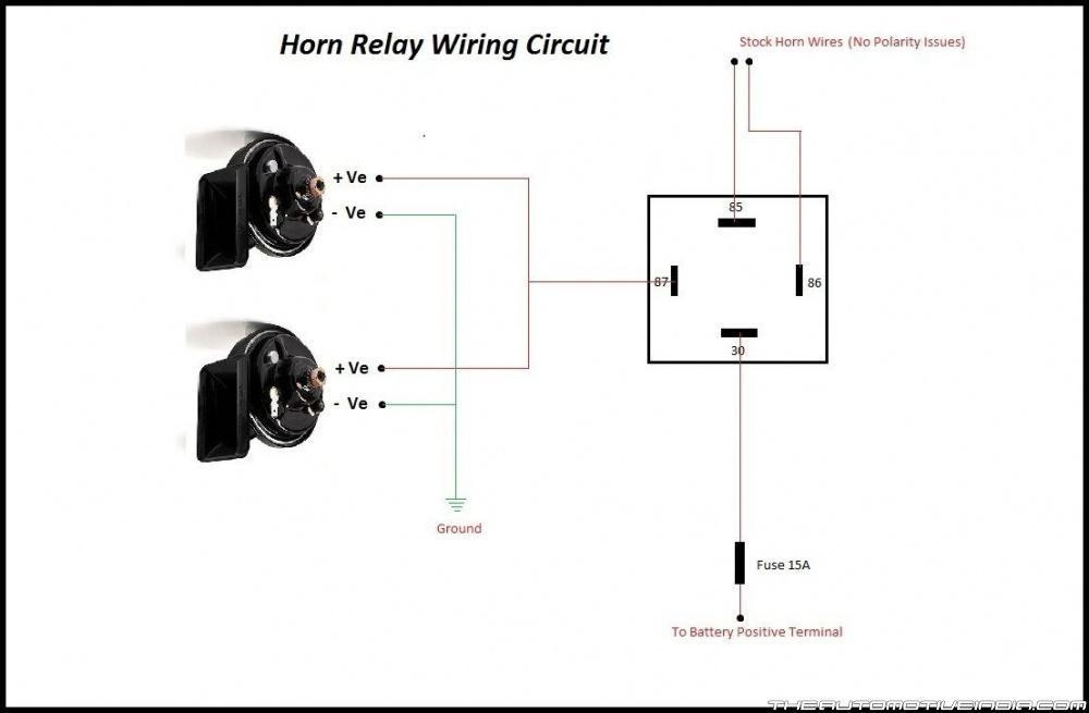 Train Horn Relay Wiring Diagram