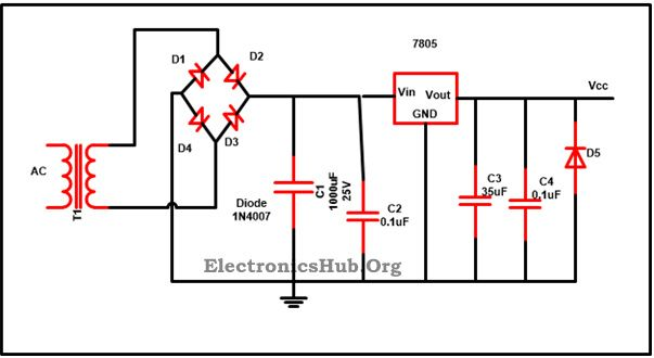 Swell 7805 Voltage Regulator Ic Circuit Working And Applications Mini Wiring Cloud Ostrrenstrafr09Org