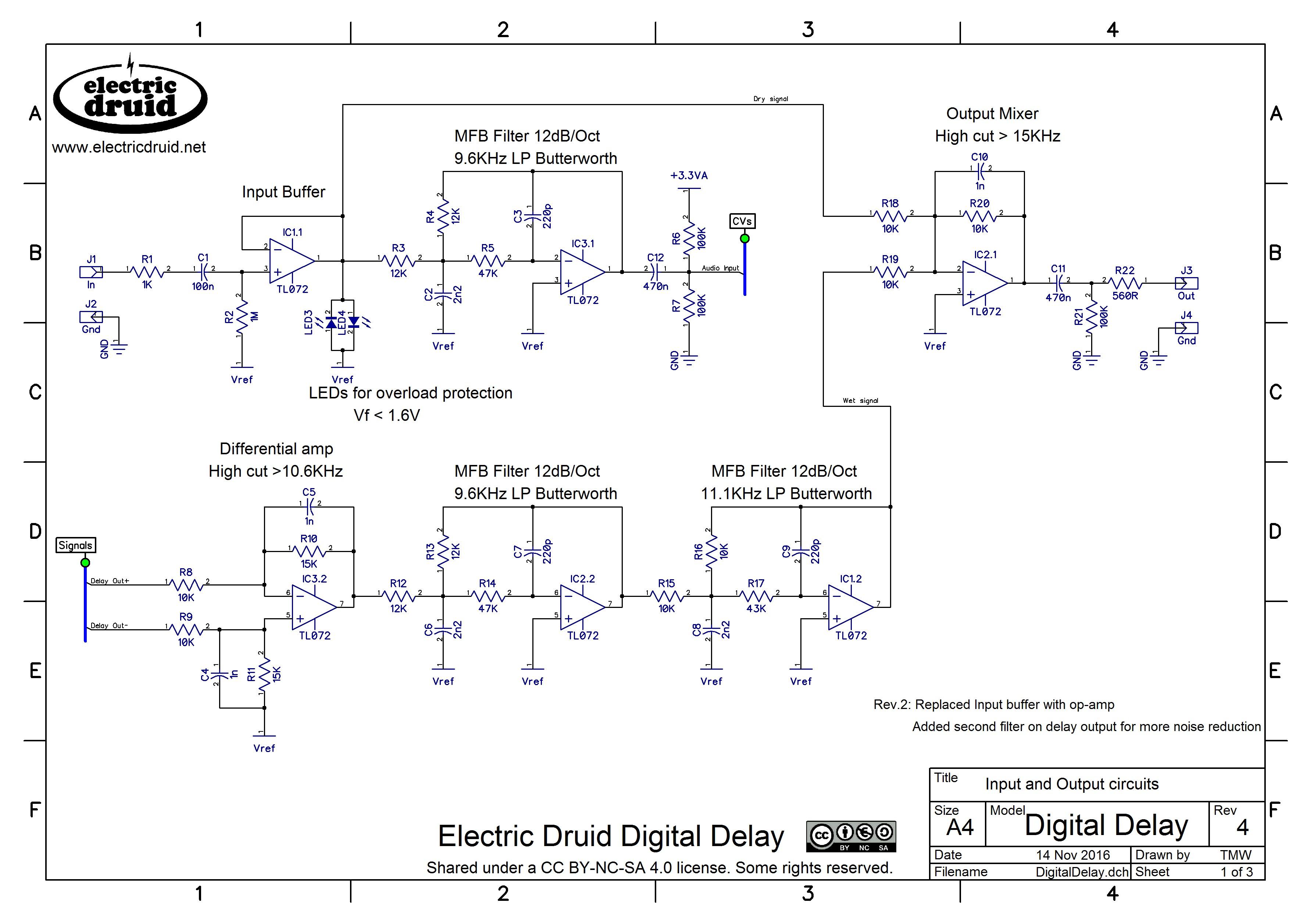 Surprising Diy 4 Second Digital Delay Electric Druid Wiring Cloud Loplapiotaidewilluminateatxorg