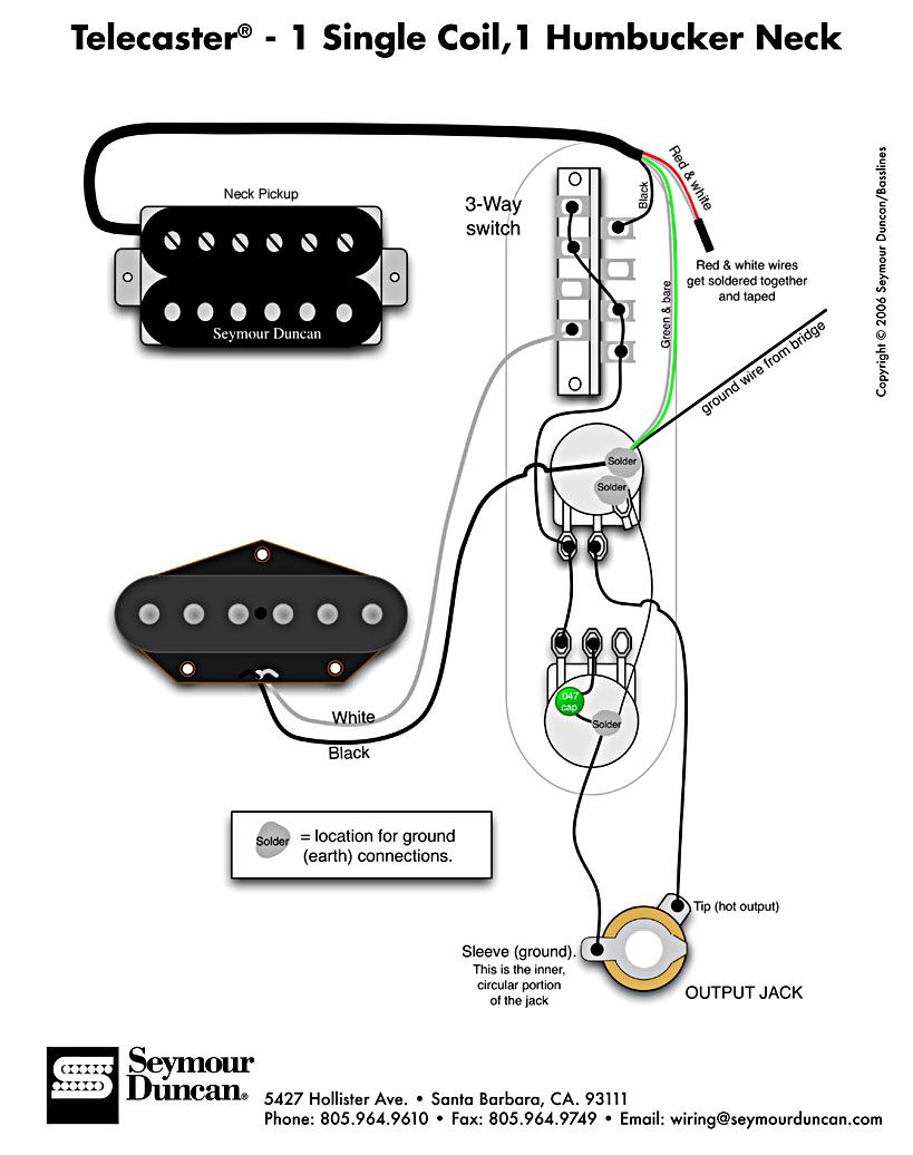 Superb Tele Wiring Diagram 1 Single Coil 1 Neck Humbucker My Other Wiring Cloud Ymoonsalvmohammedshrineorg