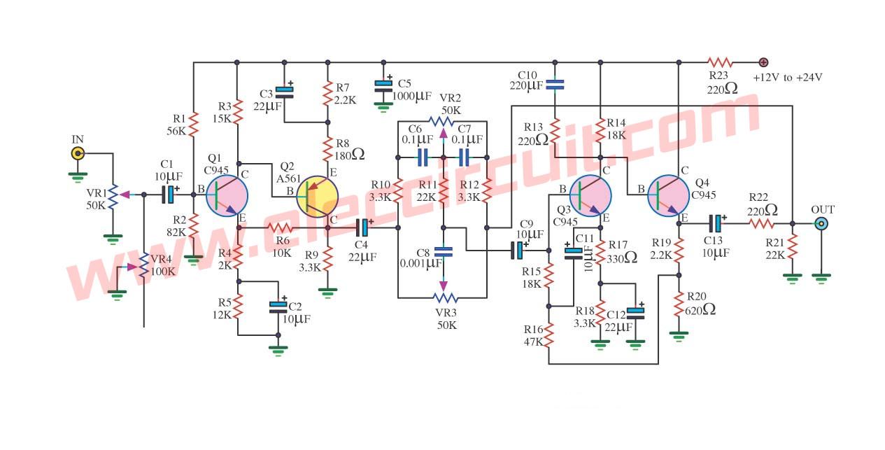 Astonishing Top 7 Tone Control Circuit Low Noise Eleccircuit Com Wiring Cloud Intelaidewilluminateatxorg