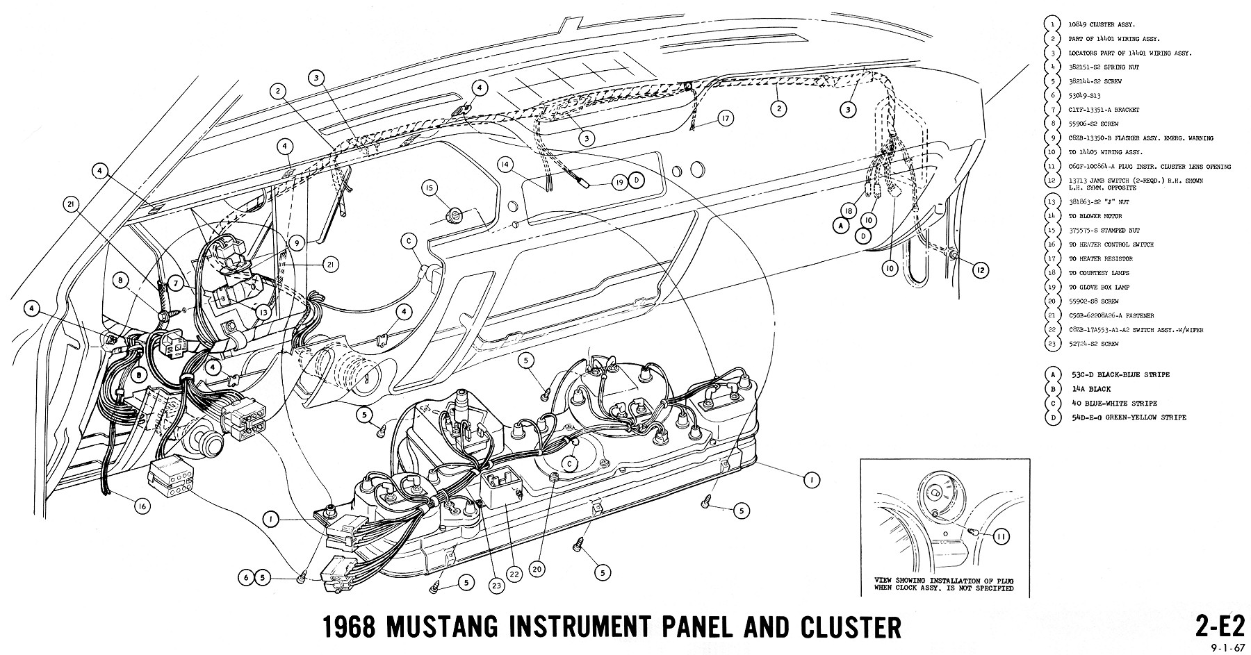 1968 mustang tach wiring diagram 1968 ford mustang wiring diagram e4 wiring diagram  1968 ford mustang wiring diagram e4