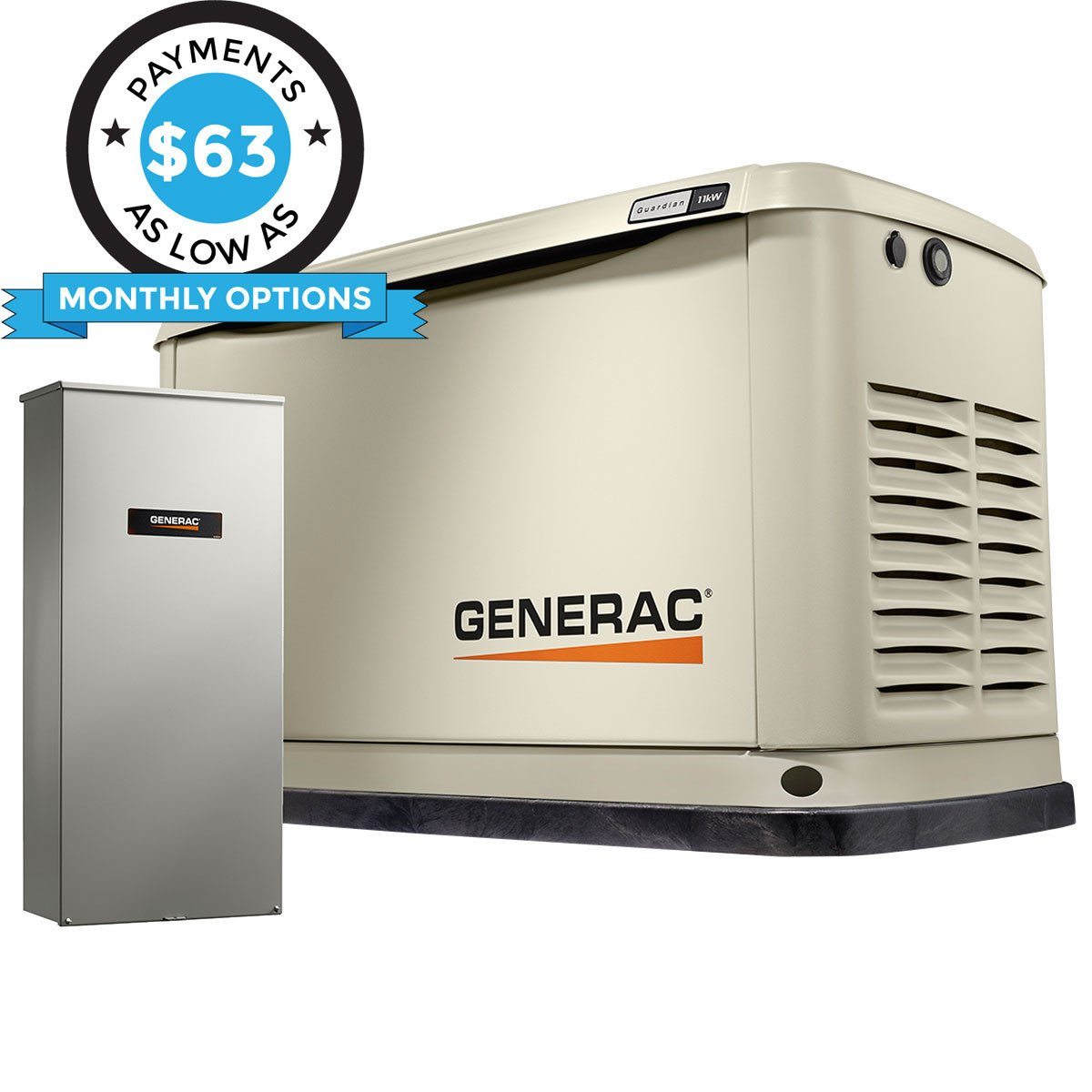 Remarkable Generac Guardian 7033 11Kw Aluminum Automatic Standby Generator With Wiring Cloud Loplapiotaidewilluminateatxorg
