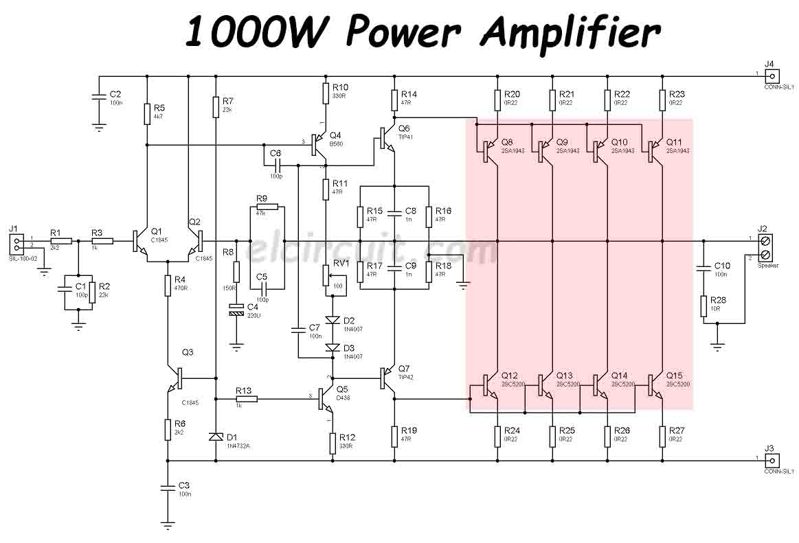 5000 watts amplifier schematic diagrams bl 2930  build a 1000w power amplifier circuit diagram electronic  1000w power amplifier circuit diagram