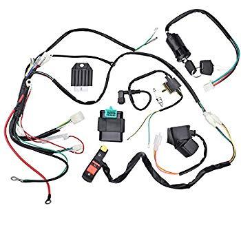 Remarkable Amazon Com Complete Motorcycle Wiring Harness Kit Electrical System Wiring Cloud Counpengheilarigresichrocarnosporgarnagrebsunhorelemohammedshrineorg