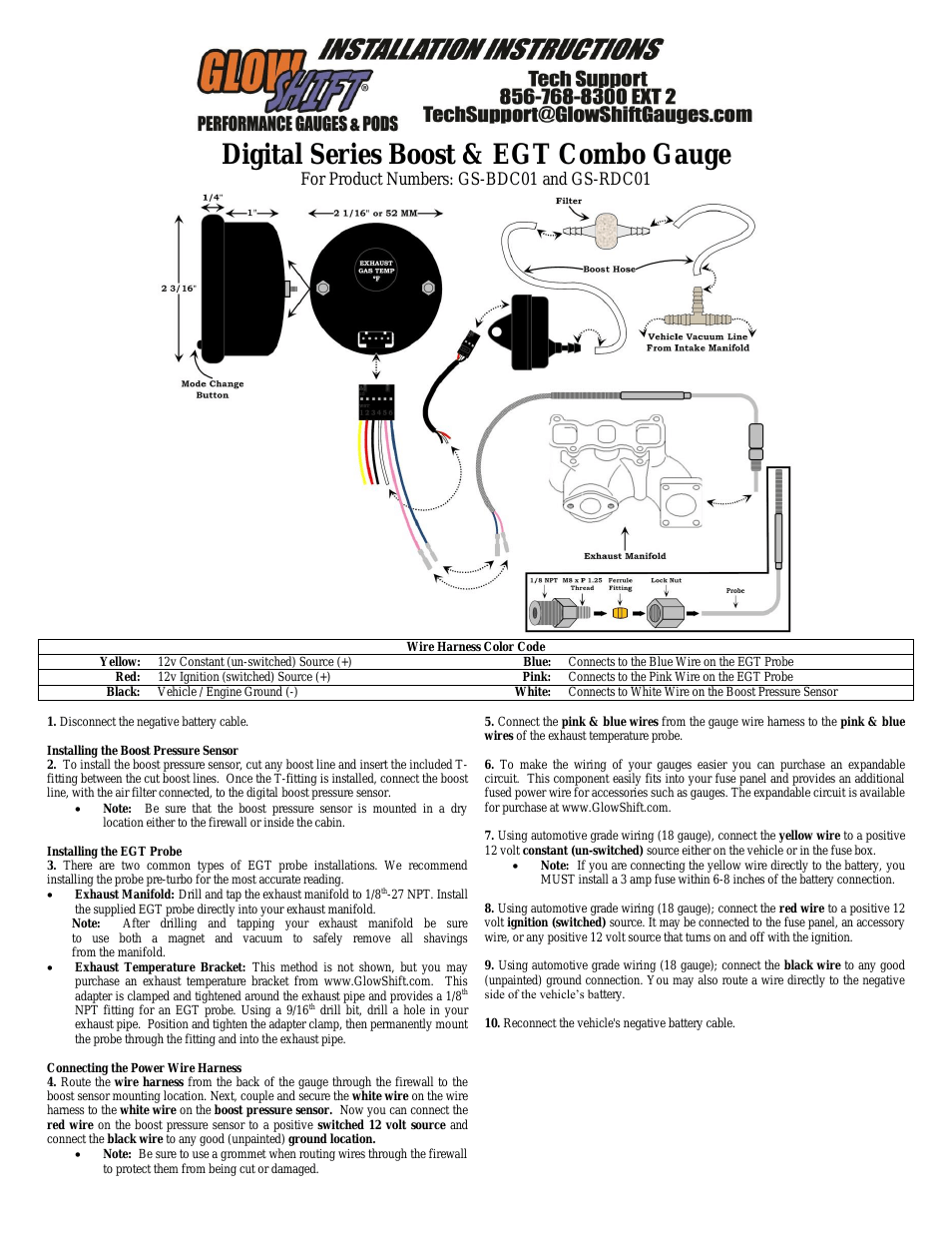 Glowshift 3 Gauge Wiring Diagram