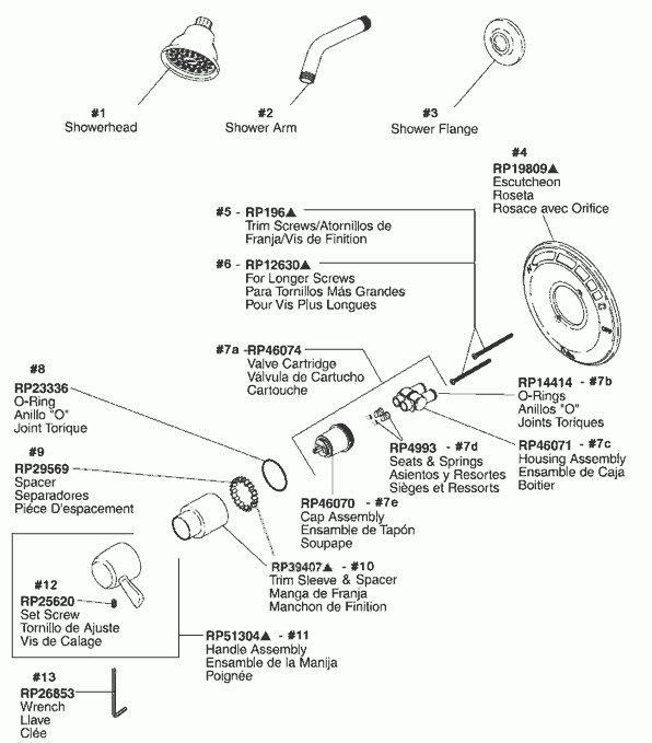 We 2001 Delta Shower Parts Diagram