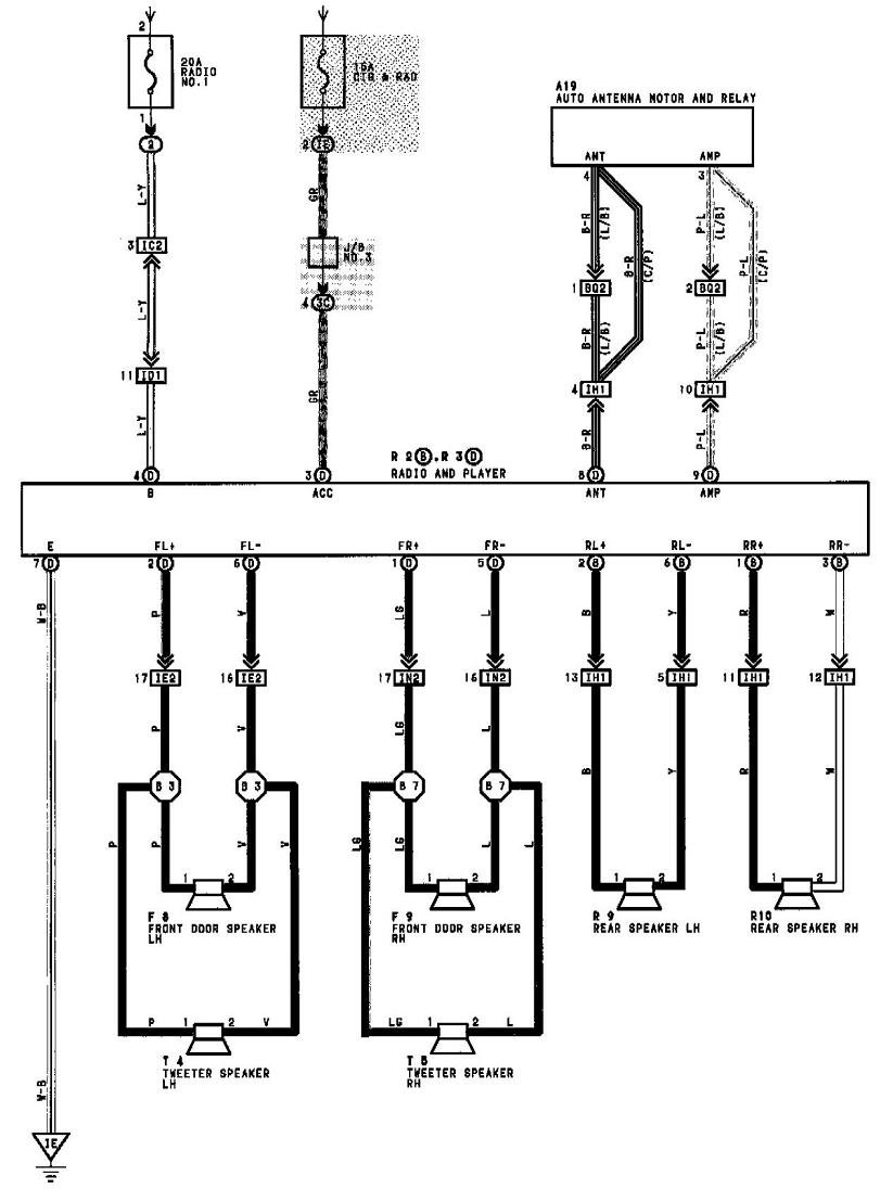 1994 Toyota Celica Gt Stereo Wiring Diagram