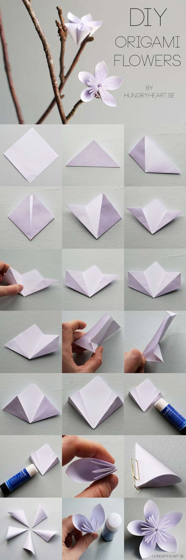Origami flowers for beginners - How to make origami flowers very ... | 1875x625