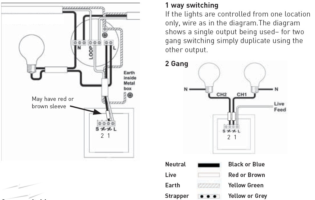 Sd 4128 2 Gang Switch Wiring Diagram To 2 Lights