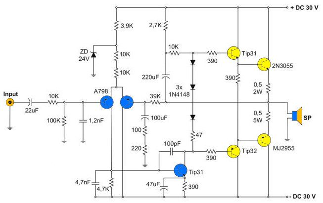 Surprising 400W Amplifier With 2N3055 Mj2955 In 2019 Electronics Audio Wiring Cloud Ymoonsalvmohammedshrineorg