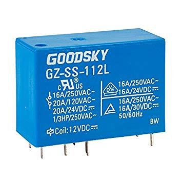 Good Sky RW-SS-112D 12V RW Series 10A SPDT Relay