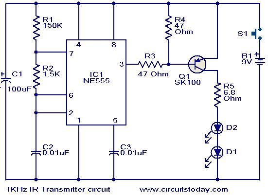 Outstanding 1Khz Ir Transmitter Circuit Electronic Circuits And Diagrams Wiring Cloud Biosomenaidewilluminateatxorg