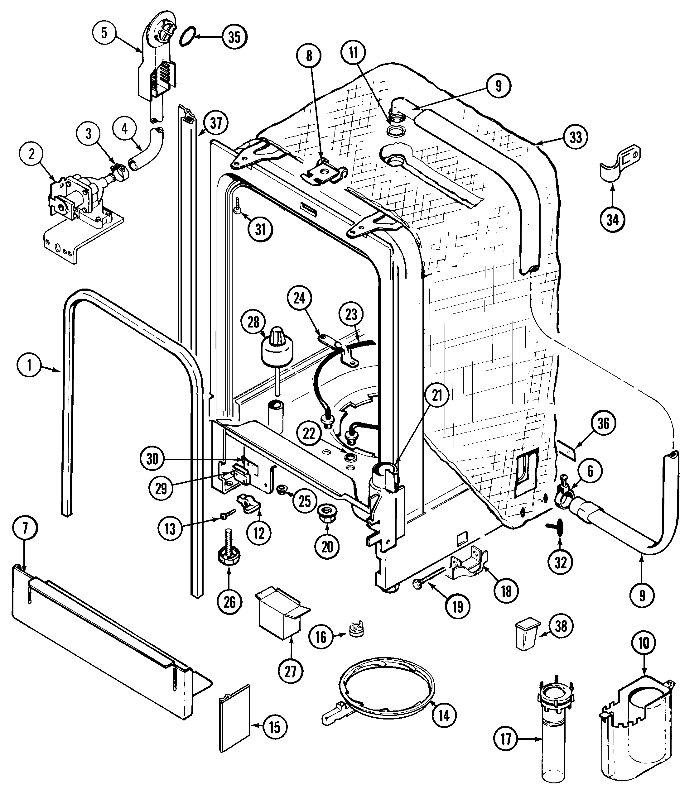 maytag diagrams hm 2043  maytag dishwasher parts diagram  hm 2043  maytag dishwasher parts diagram