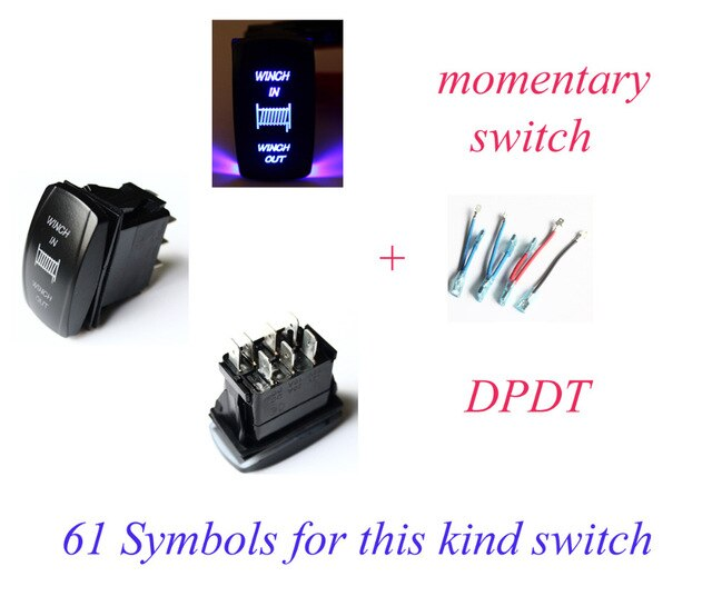 Admirable Winch In Winch Out Momentary Rocker Switch Blue Led Dpdt On Off Wiring Cloud Onicaxeromohammedshrineorg